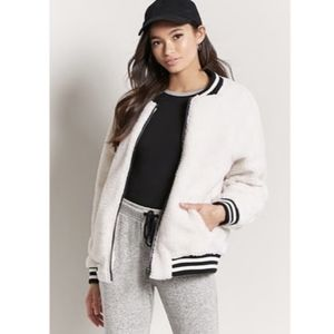 FOREVER 21 Faux Shearling Sherpa bomber jacket